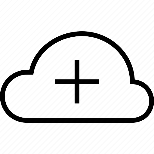 add, cloud, forecast, new, plus, weather icon