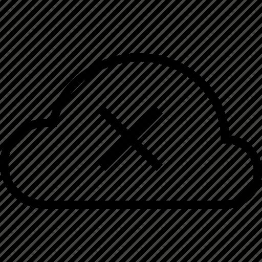 close, cloud, cross, delete, exit, remove icon