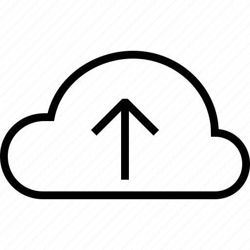 arrow, cloud, direction, up, upload, web icon