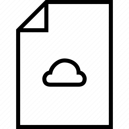 cloud, document, documents, file, format, weather icon