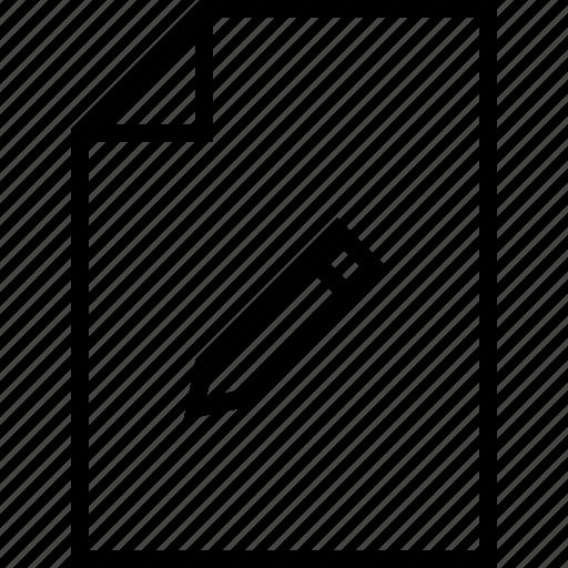 document, edit, file, pen, pencil, write icon