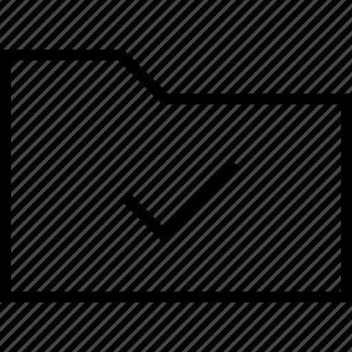 check, document, file, files, folder, ok icon