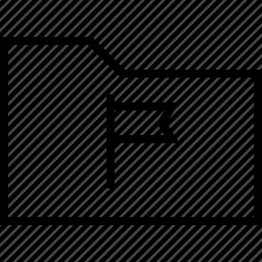 document, documents, file, flag, folder, open icon