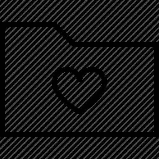 favorite, file, folder, heart, like, love icon