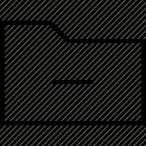 cancel, document, file, folder, minus, remove icon
