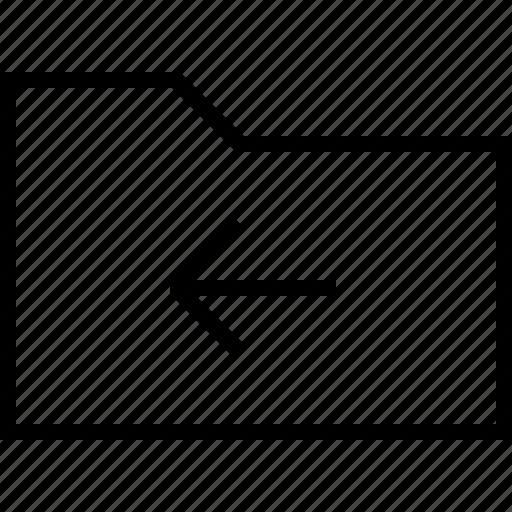 arrow, back, basic, document, file, folder, previous icon