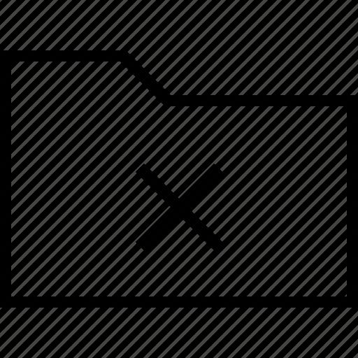 cancel, close, document, files, folder, remove icon