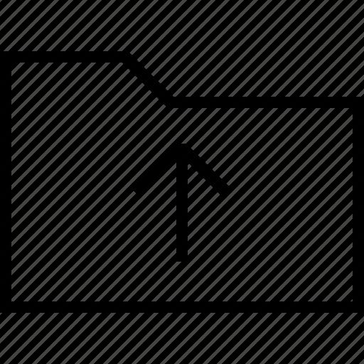 arrow, data, document, files, folder, upload icon