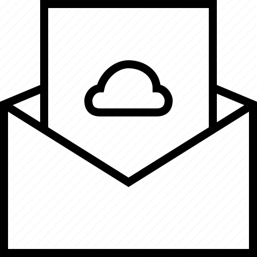 cloud, email, envelope, forecast, letter, mail icon