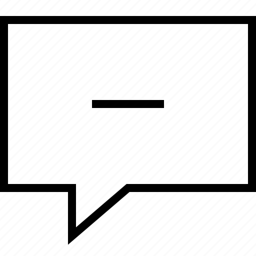 bubble, chat, comment, email, message, minus icon