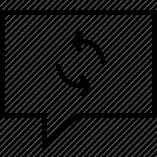 message, refresh icon