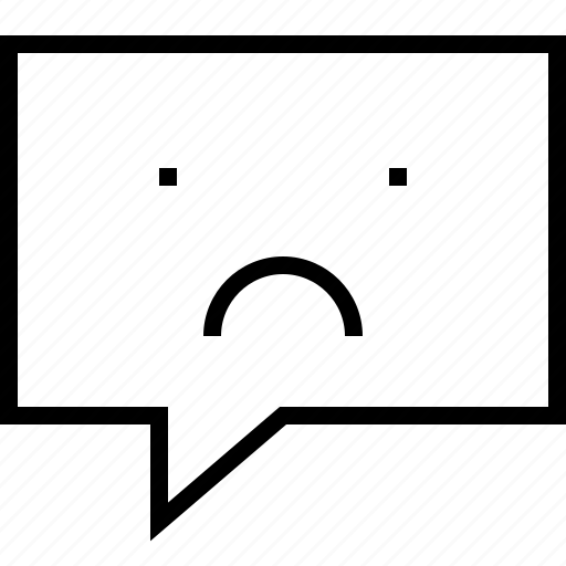 bubble, chat, email, mail, message, sad icon