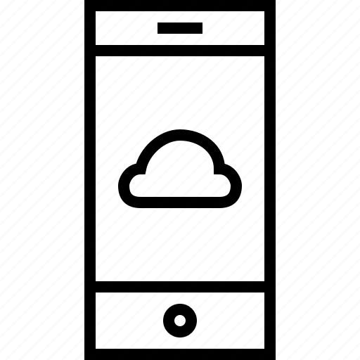 cloud, smartphone, weather icon