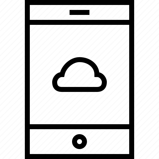 basic, cloud, internet, tablet, weather icon