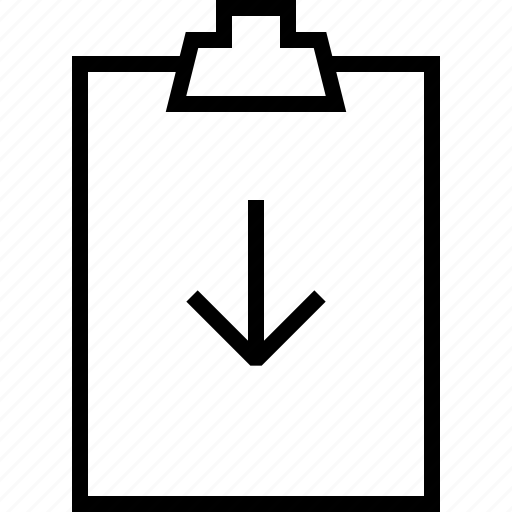 clipbord, download, todolist icon