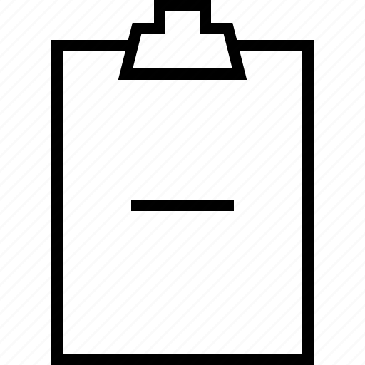 clipboard, minus, paper, todolist icon