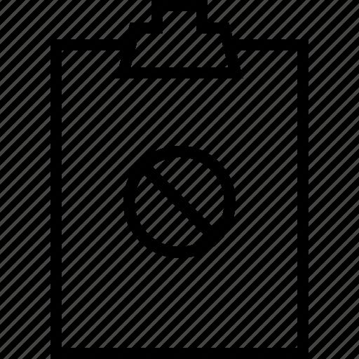 clipbord, noaccess, todolist icon
