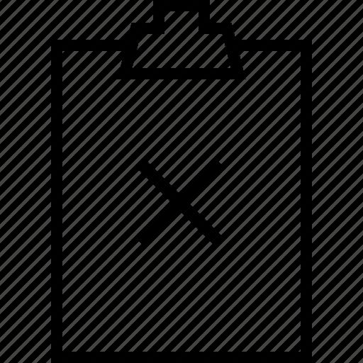 cancel, clipbord, close, minus, remove, todolist icon