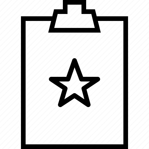 clipbord, star, todolist icon