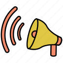 loudspeaker, megaphone, sound, speaker icon icon