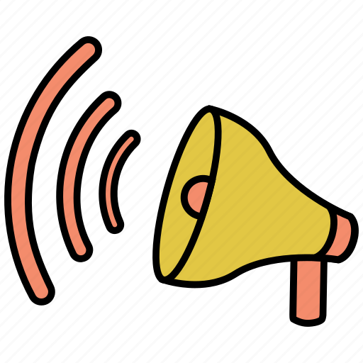 loudspeaker, megaphone, sound, speaker icon icon