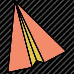 paper, paperplane, plane icon icon
