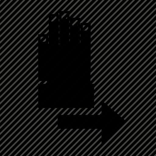 arrow, dashboard, gesture, hand, move, right, ui icon