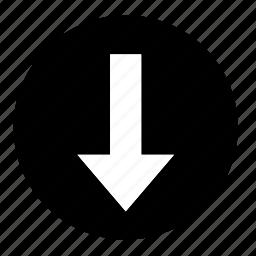 arrow, dashboard, down, download, ui icon