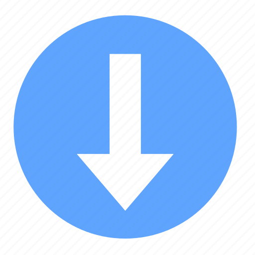 arrow, basic, buy, dashboard, down, download, ui icon