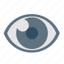 basic, dashboard, eye, eyes, ui, view, vision icon