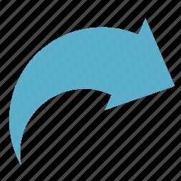 arrow, basic, dashboard, redo, right, turn, ui icon