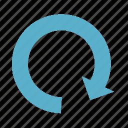 arrow, basic, dashboard, refresh, turn, ui icon