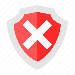 attack, basic, dashboard, protect, shield, ui, unsecure icon
