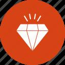 diamond, jewellery icon