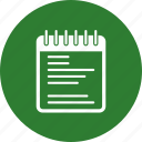 note, notepad, pad, paper icon