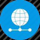 global, server, web icon