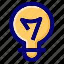 bulb, idea, light, solution icon