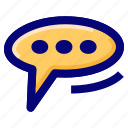 bubble chat, chat, conversation, message icon