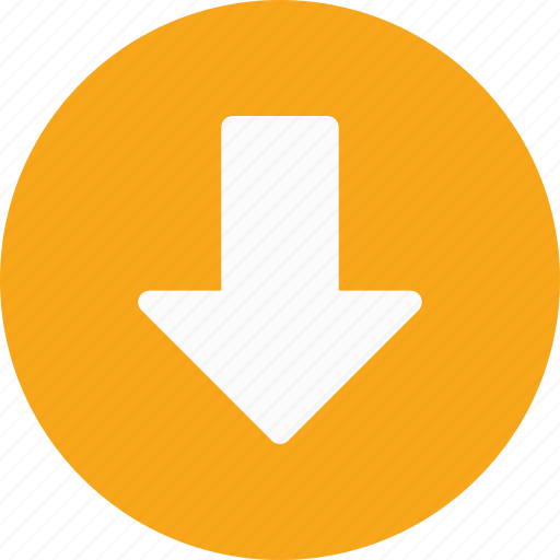 arrow, direction, down, download, save icon