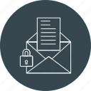 email, letter, lock, mail, secure icon