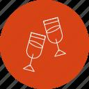 christmas, glasses, vine icon