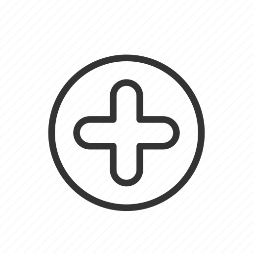 add, increase, interface, minimalist, pluss, ui, ux icon