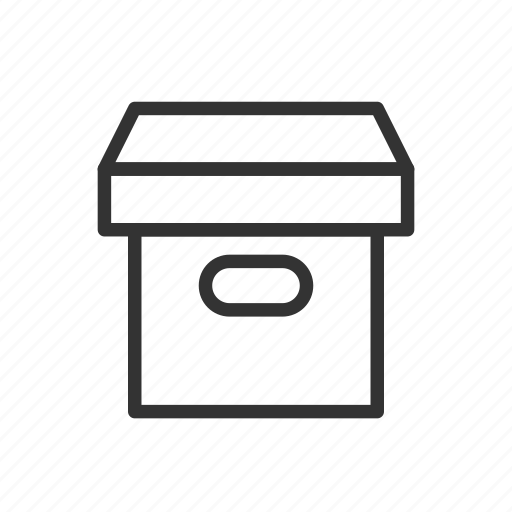 arhcive, box, document, interface, minimalist, ui, ux icon