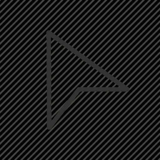 arrow, cursor, drag, minimalist, pointer, ui, ux icon