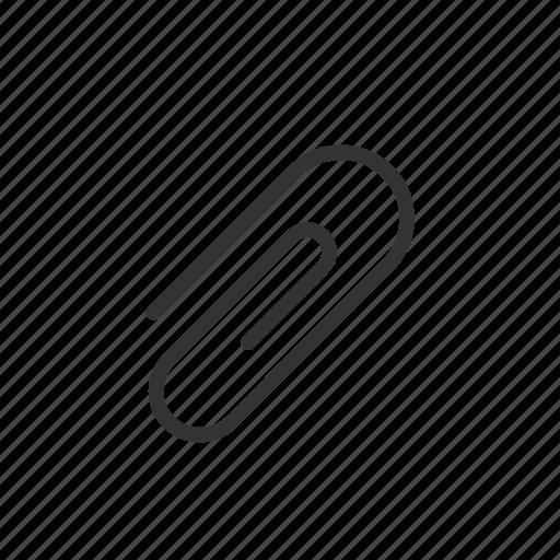attach, attachment, clip, minimalist, paper, paper clip, ui, ux icon