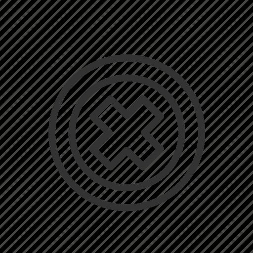 ban, close, interface, minimalist, ui, ux, wrong icon