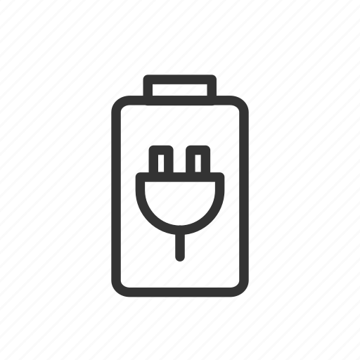 battery, charge, minimalist, power, recharge, ui, ux icon