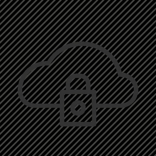 access, block, cloud, minimalist, network, ui, ux icon