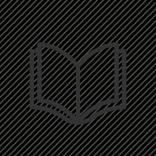 book, education, learing, minimalist, read, ui, ux icon