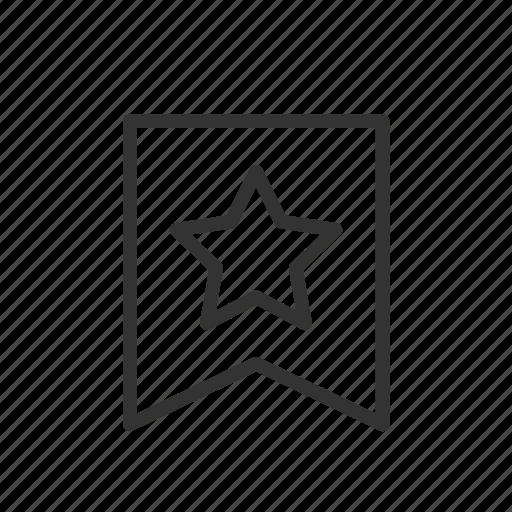 bookmark, like, mark, minimalist, star, ui, ux icon